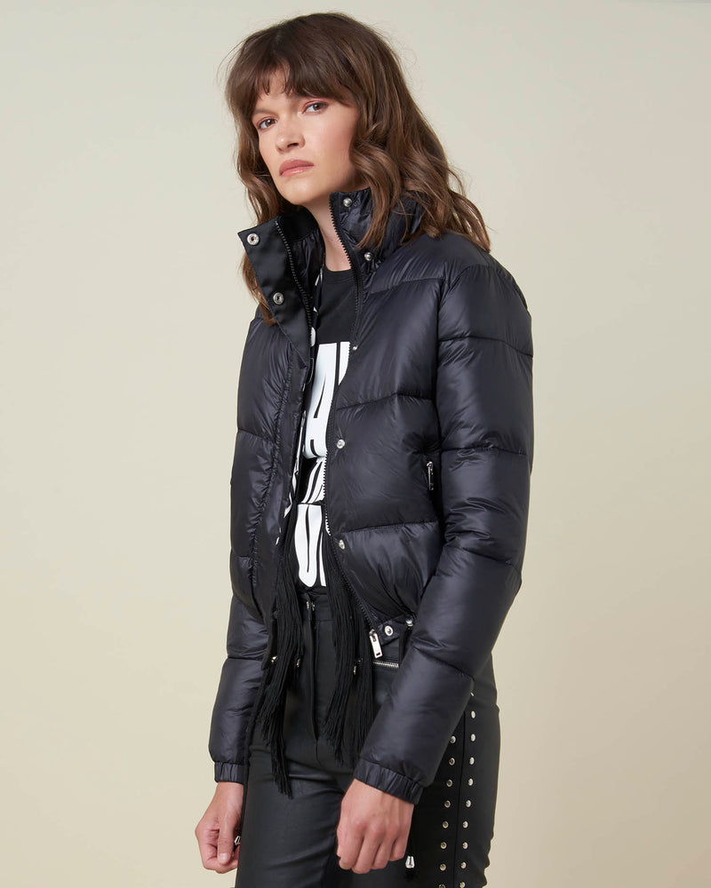 Cropped down-jacket