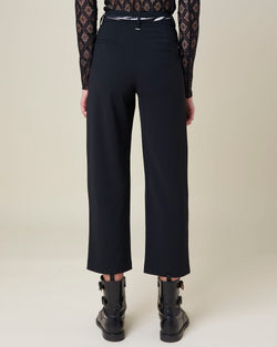 Cropped trousers with sash