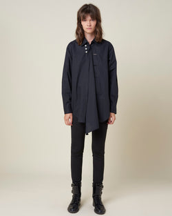 Contrasted buttons shirt