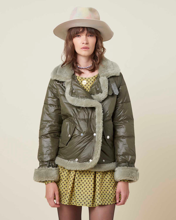 Sheepskin down-jacket