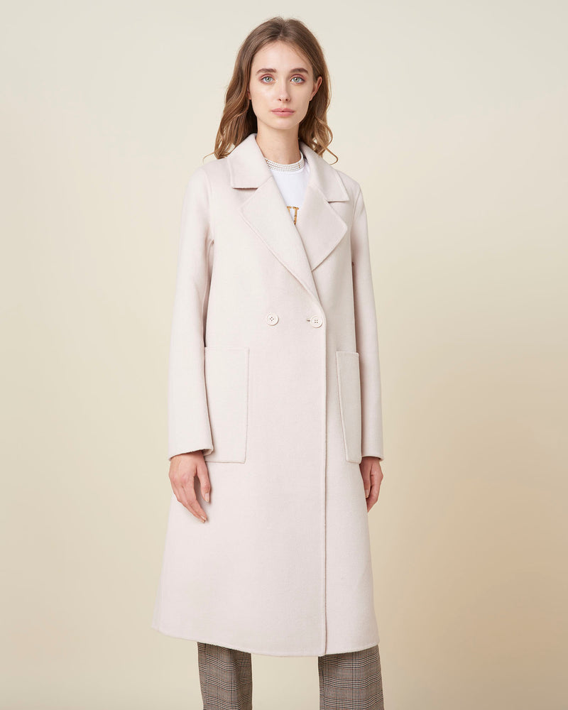 Fabric coat double button