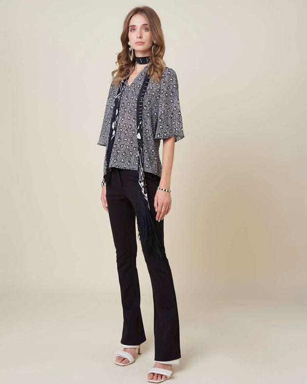Hign waist flared trousers