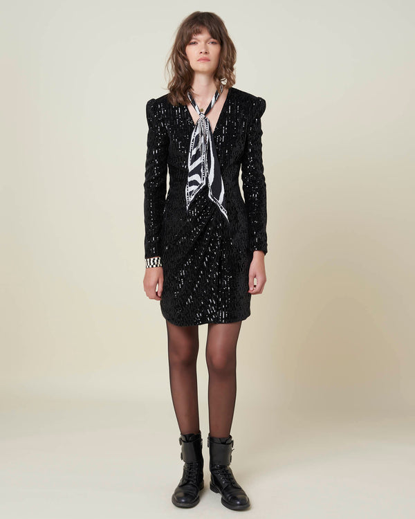 Rippled dress with sequins