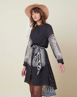 Dress with astral pattern