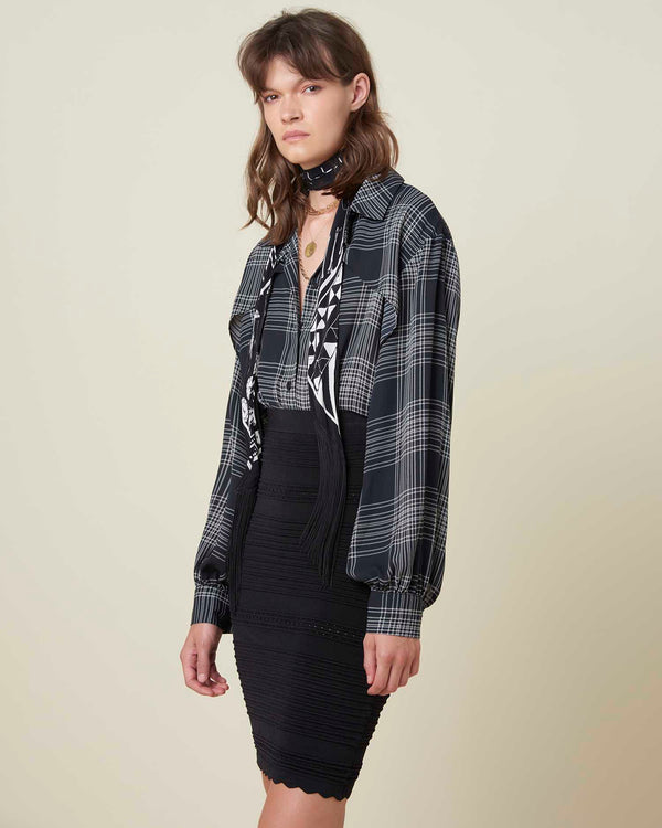 Soft shirt with check pattern