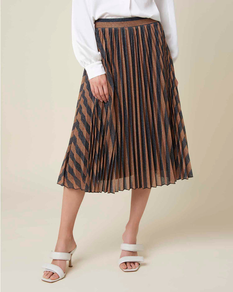 Pleated skirt in lame'