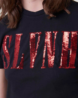 Sequined logo t-shirt