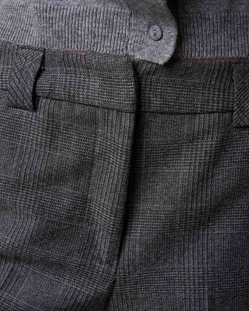 Checked classic trousers