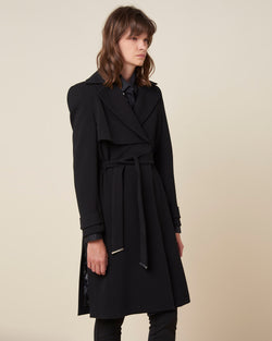 Long coat with waistbelt