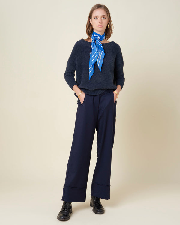 Wide cuffed trousers