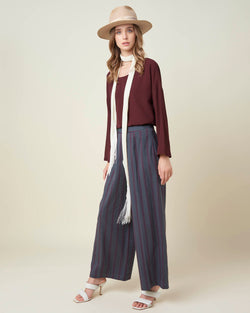 Wide striped trousers