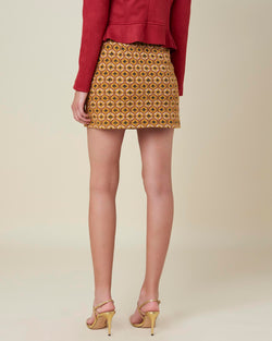 Miniskirt with embroidered pattern