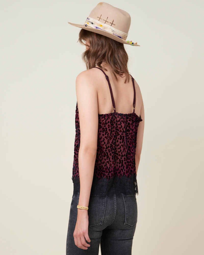 Lace and veiled top