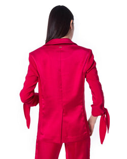 Jacket with knot HACHIO