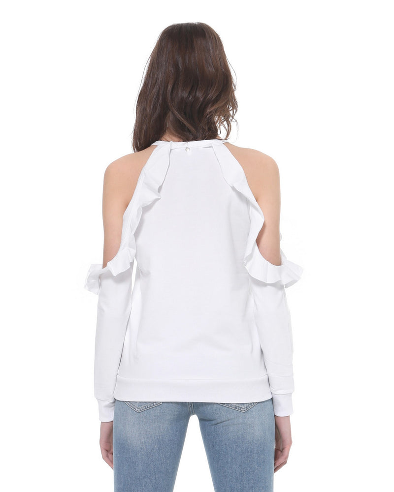 Sweatshirt with valance CHALKY
