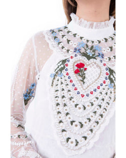 Dress embroidered texture CRACIS