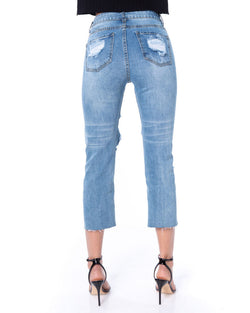 Jeans with grid texture ANABCIO