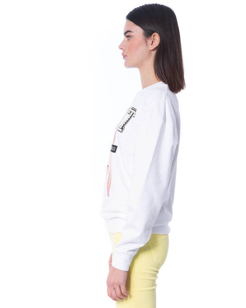 Sweatshirt with embossed letters BAOTOU