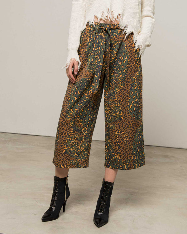 Military palazzo trousers