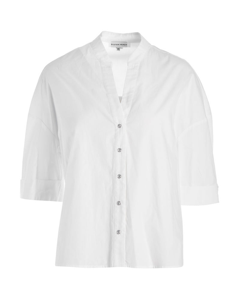 Shirt with korean collar