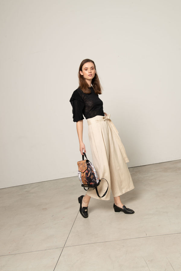 High-waist culottes