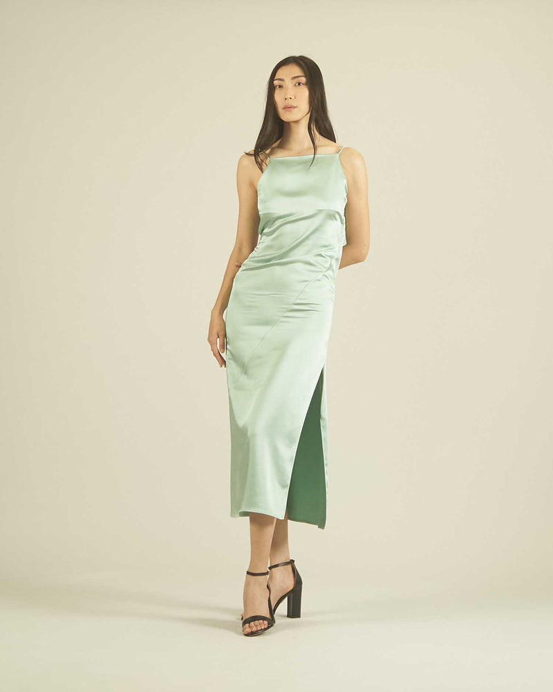 Petticoat dress in satin