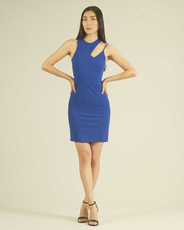 Sheat dress with cut-out