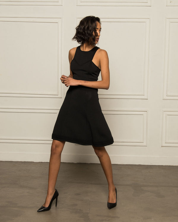 American neckline dress