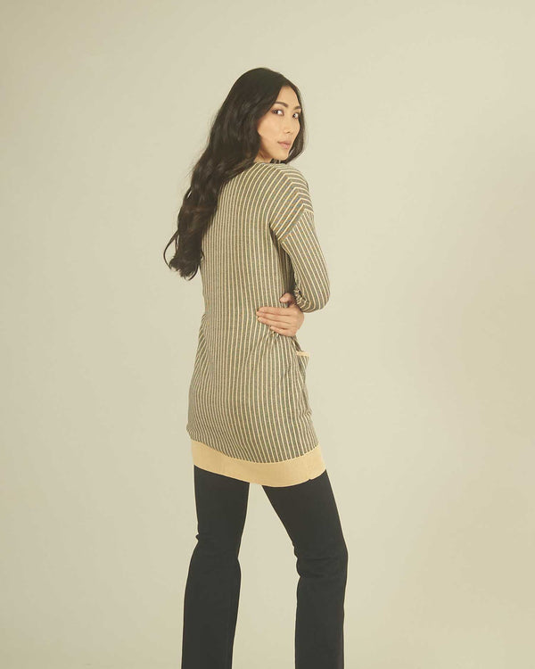 Gold ribbed cardigan