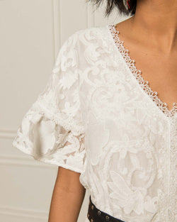 Lace dress in romantic style