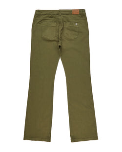 Solid color flared jeans