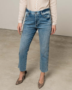 Jeans with fringes strims