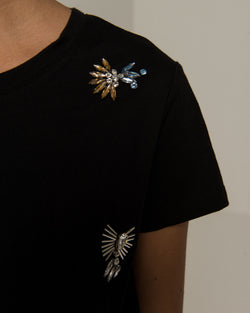 T-shirt with strass pattern
