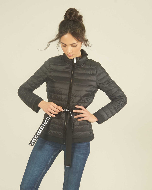 Waisted short down jacket
