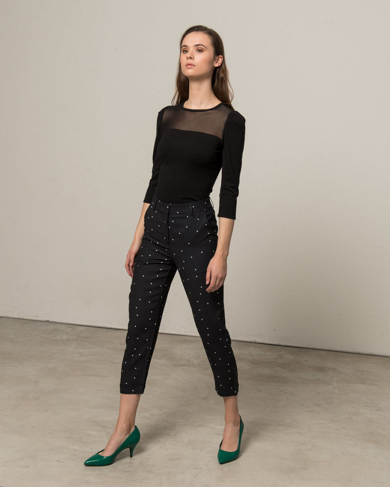 Suit crop trousers