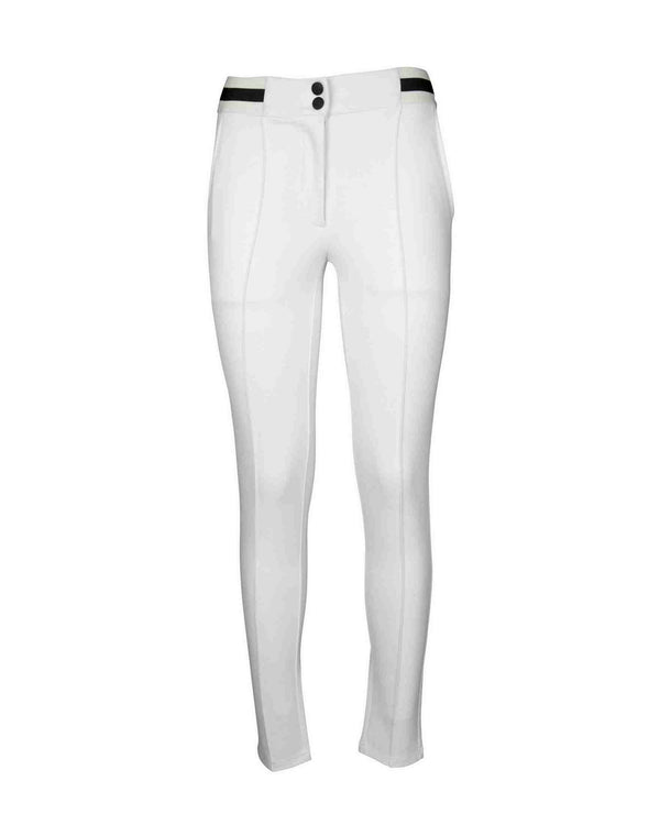Skinny trousers with contrasting band