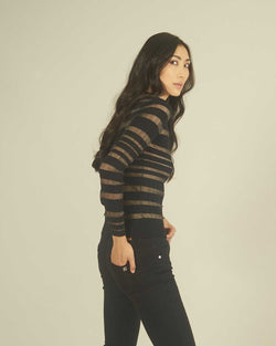 Transparent stripes sweater