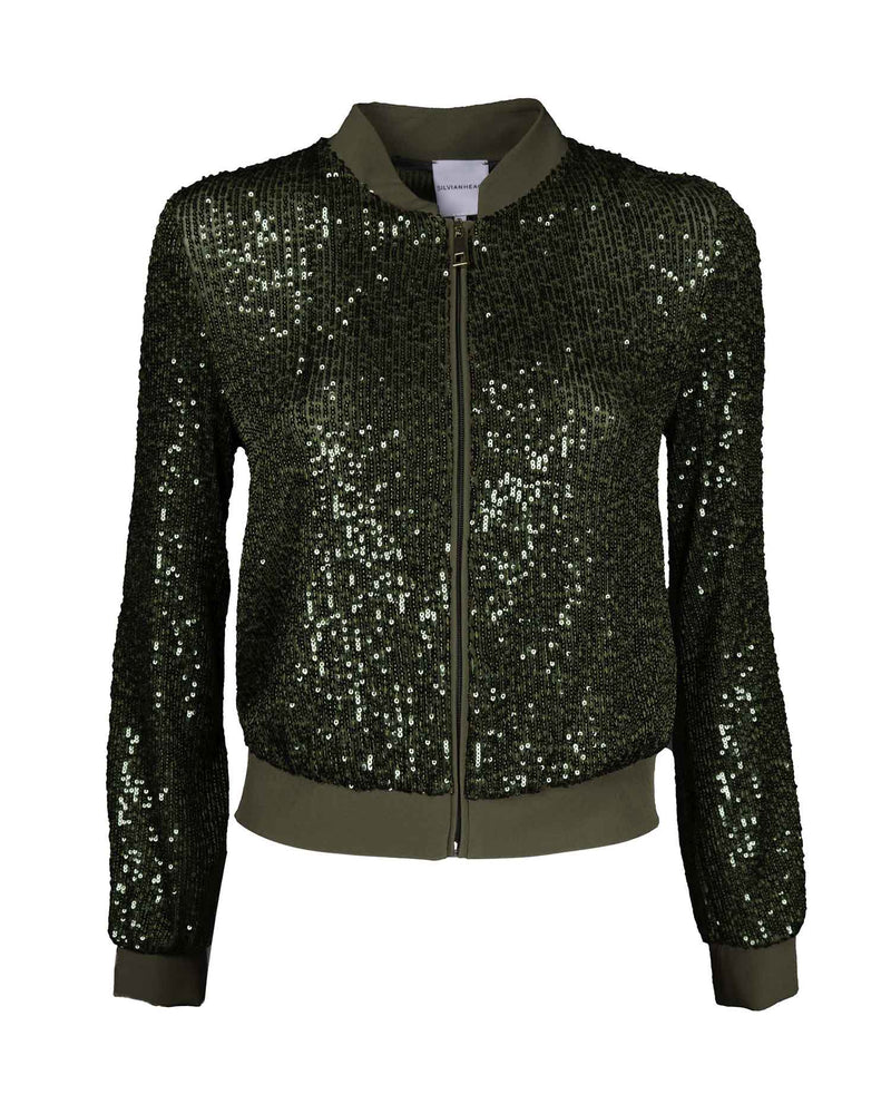 Jacket with sequins