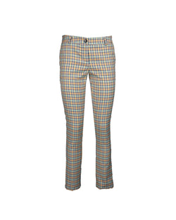 Skinny trousers with check pattern