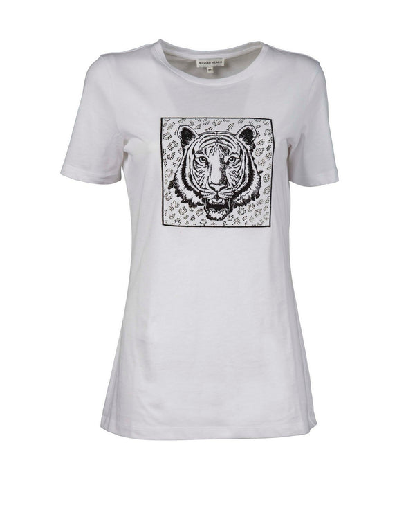 T-shirt with printed tiger