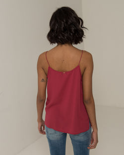 Casual top with faux neck