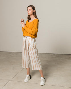 Cropped safary culotte