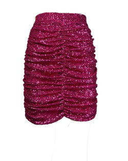 Curled skirt with sequins