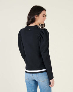 Sweatershirt with puff sleeves