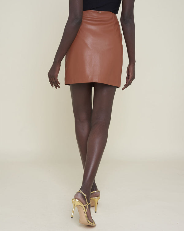 Faux leather miniskirt