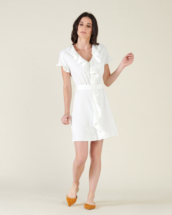 Sheath dress with belt