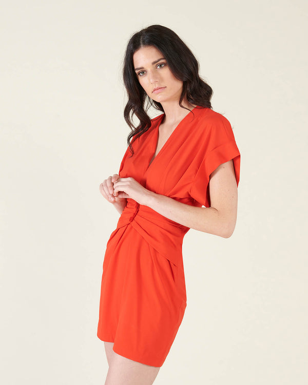 Midi gathered dress