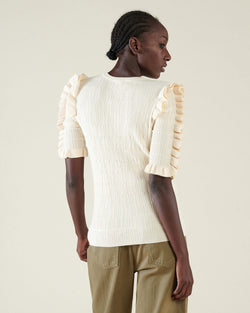 Sweater with rouches