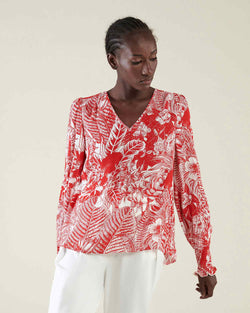 Floral pattern blouse