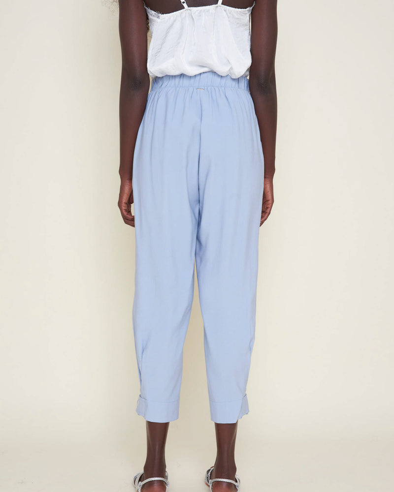 Balloon effect cropped pants